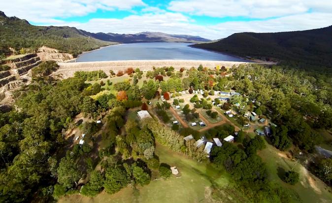 Halls-Gap-Lakeside-Tourist-Park-Aerial